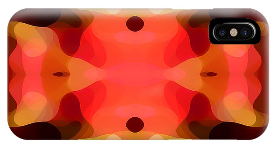 Abstract Painting IPhone Case featuring the digital art Las Tunas Abstract Pattern by Amy Vangsgard