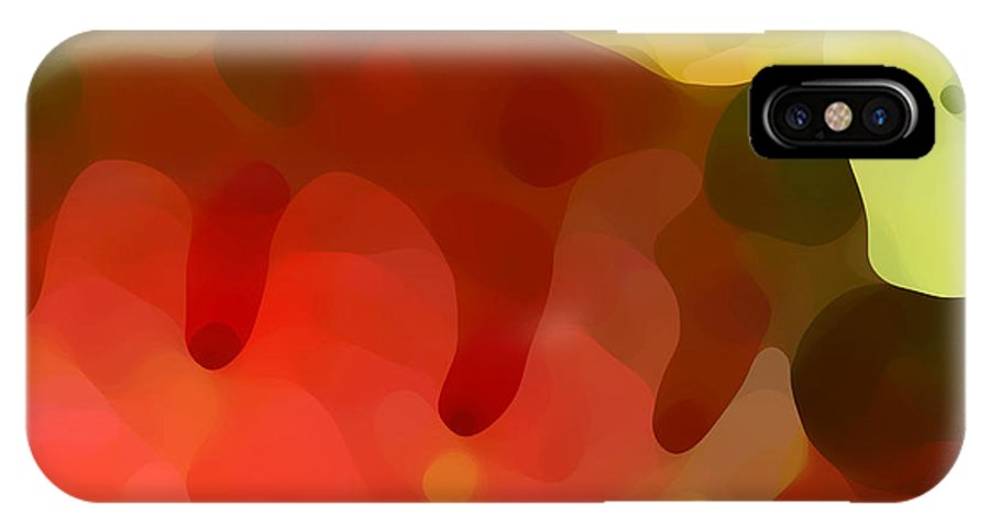 Abstract IPhone Case featuring the painting Las Tunas Ridge by Amy Vangsgard