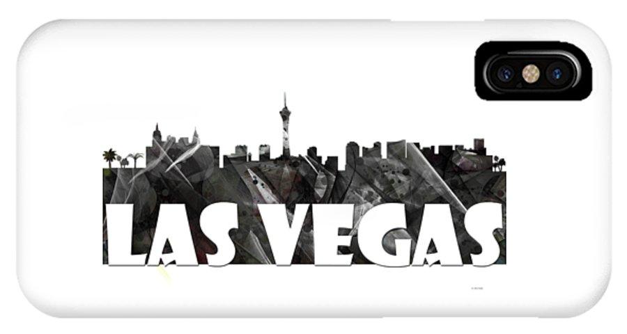 Las Vegas IPhone X / XS Case featuring the digital art Las Vegas by Marlene Watson