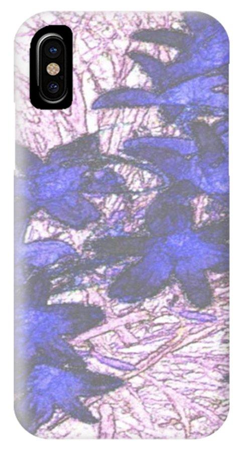Flowers.early Winter IPhone X Case featuring the digital art Last Frozen Flowers by Dr Loifer Vladimir