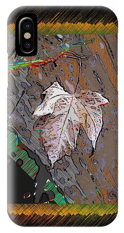 Leaf IPhone X Case featuring the digital art Last Leaf Standing by Tim Allen