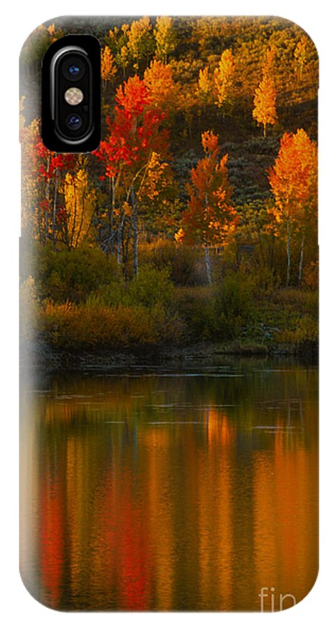 Grand Teton IPhone X Case featuring the photograph Last Light At Oxbow Bend by Sandra Bronstein