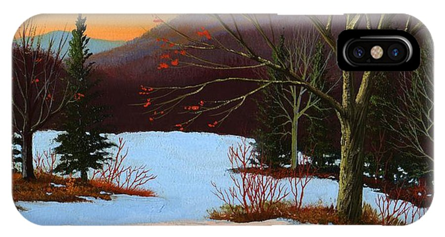 Winter IPhone Case featuring the painting Last Light Of Day by Frank Wilson