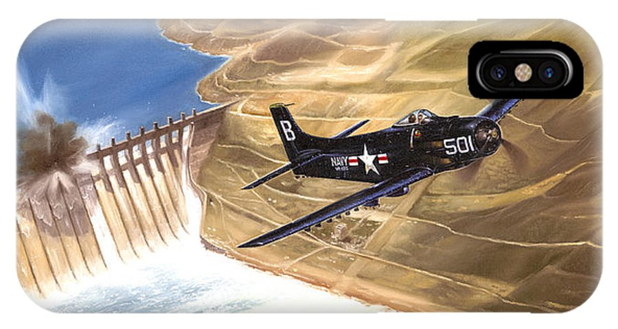Military IPhone X Case featuring the painting Last Of The Dambusters by Marc Stewart