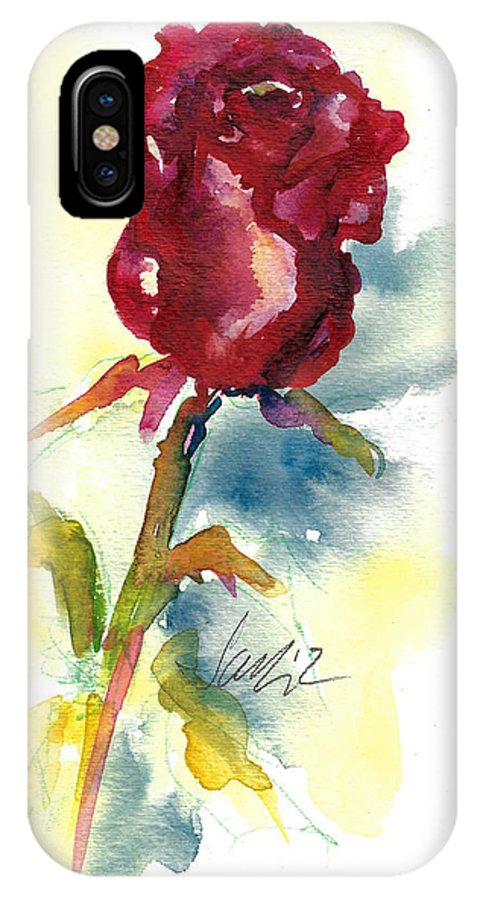 Rose Painting IPhone X Case featuring the painting Last Rose Of Summer by Jacki Kellum