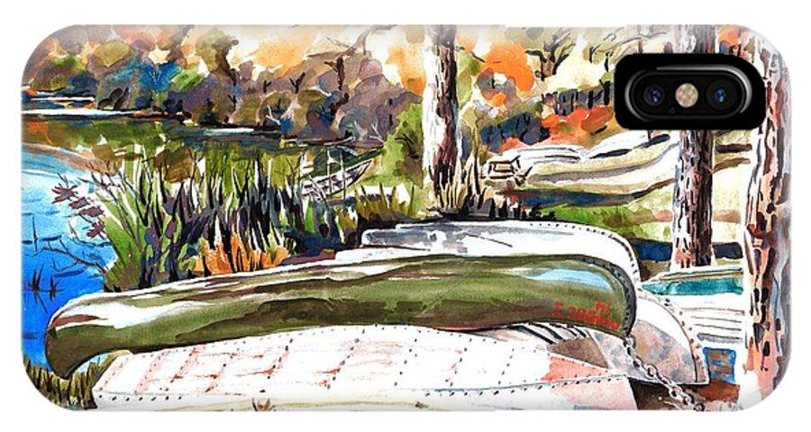 Last Summer In Brigadoon IPhone X Case featuring the painting Last Summer in Brigadoon by Kip DeVore