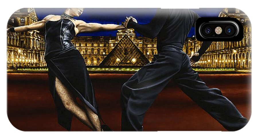 Tango IPhone X Case featuring the painting Last Tango In Paris by Richard Young