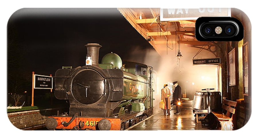 Train IPhone X Case featuring the photograph Last Train Of The Night by Robert Sherwood
