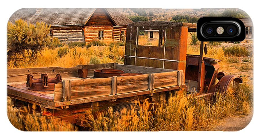 Bannack IPhone X Case featuring the photograph Late For The Rush by Adam Jewell