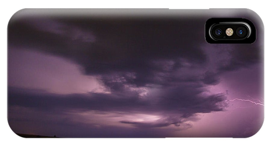 Nebraskasc IPhone X Case featuring the photograph Late July Storm Chasing 028 by NebraskaSC
