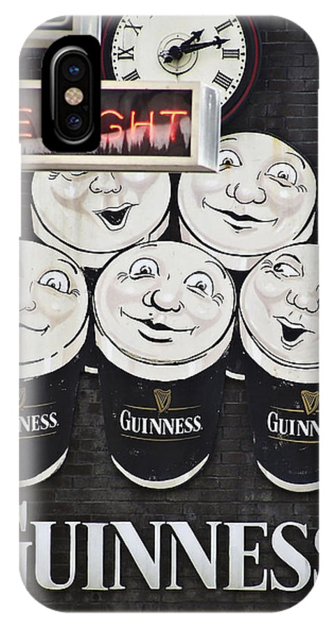 Guinness IPhone X Case featuring the photograph Late Night Guinness Limerick Ireland by Teresa Mucha