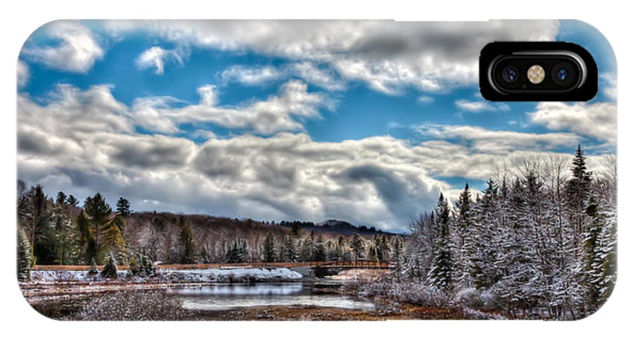 Late Winter At The Tobie Trail Bridge IPhone X Case featuring the photograph Late Winter At The Tobie Trail Bridge by David Patterson