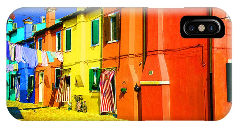 Burano IPhone Case featuring the photograph Laundry Between Chimneys by Donna Corless