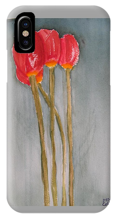 Tulip Flower Bouquet IPhone X / XS Case featuring the painting Laura by Patricia Caldwell
