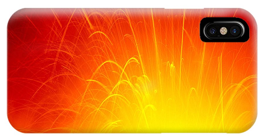 A'a IPhone X Case featuring the photograph Lava Explodes Into Ocean by Peter French - Printscapes