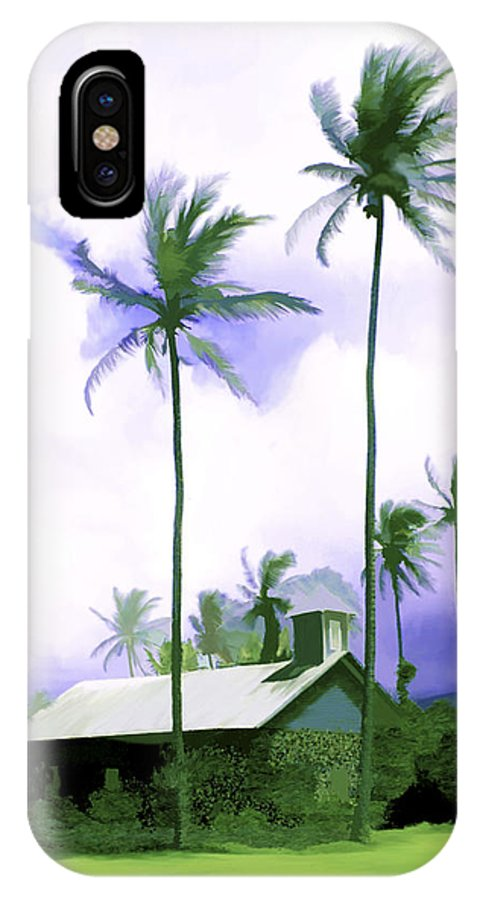 Hawaii IPhone X Case featuring the photograph Lava Rock Church by Kurt Van Wagner