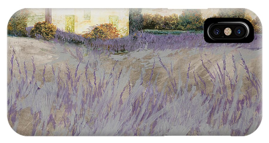 Lavender IPhone X Case featuring the painting Lavender by Guido Borelli