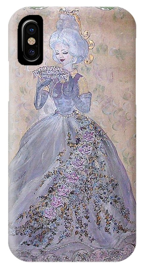 Still Life IPhone X Case featuring the painting Lavender Lady by Phyllis Mae Richardson Fisher