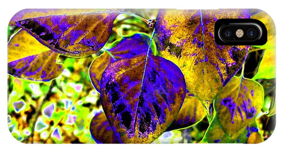 Lavish Leaves IPhone X Case featuring the digital art Lavish Leaves 3 by Will Borden