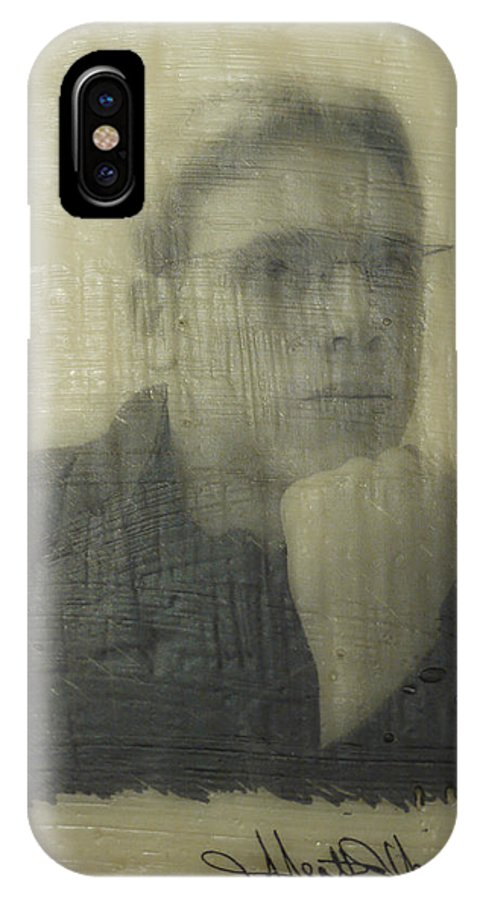 Encaustic IPhone X Case featuring the painting Lawson by Heather Hennick