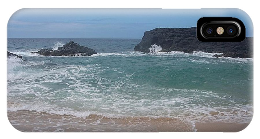 Ocean IPhone X Case featuring the photograph Layered Waves by Michelle Miron-Rebbe