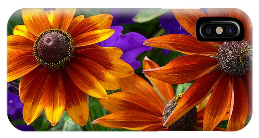 Flowers IPhone X Case featuring the photograph Layers of Color by Larry Keahey