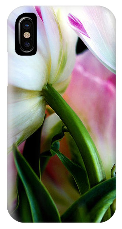Flower IPhone X Case featuring the photograph Layers Of Tulips by Marilyn Hunt