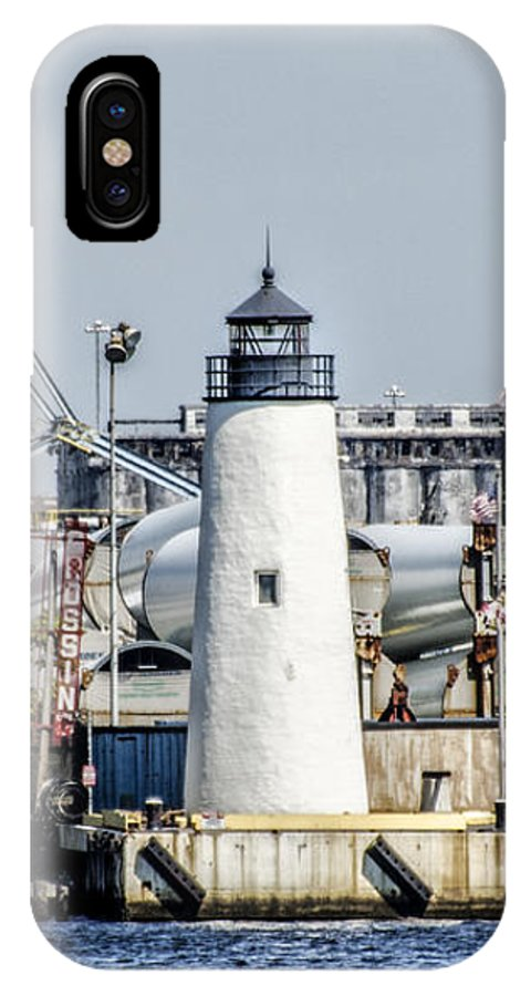 Lazaretto IPhone X / XS Case featuring the photograph Lazaretto Point Lighthouse by Bill Cannon