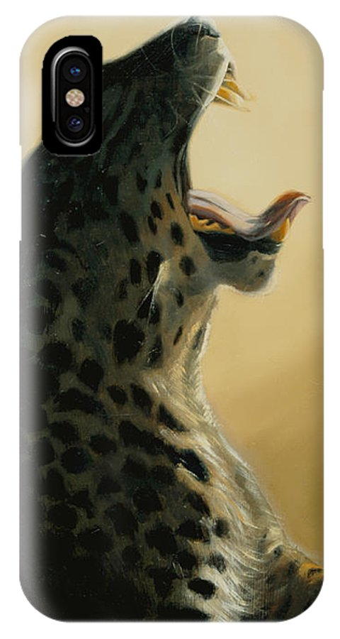 Painting IPhone X Case featuring the painting Lazy Days by Greg Neal