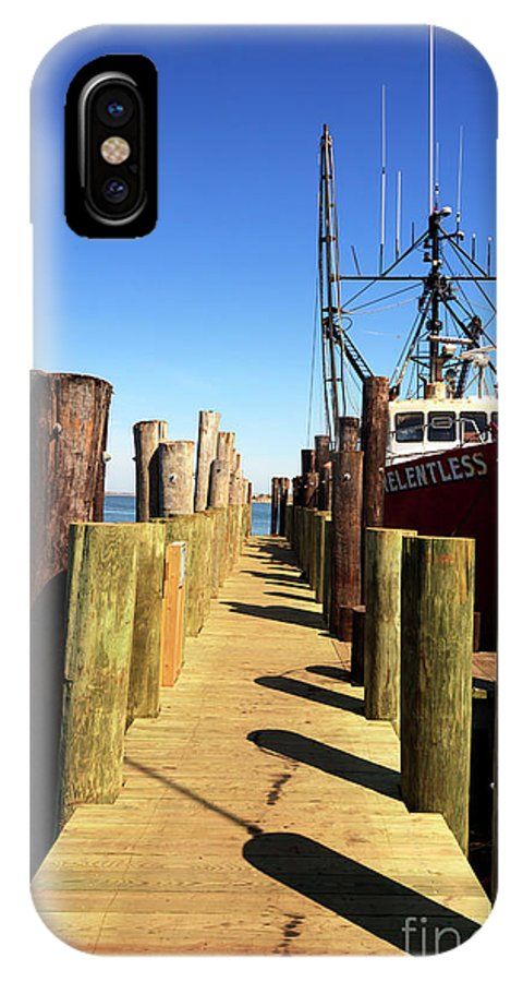 Lbi Down The Dock IPhone X Case featuring the photograph Lbi Down The Dock by John Rizzuto
