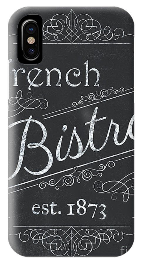 Cafe IPhone X Case featuring the painting Le Petite Bistro 4 by Debbie DeWitt
