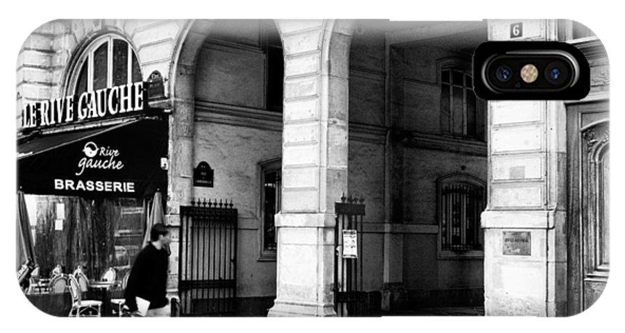 Le Rive Gauche IPhone X Case featuring the photograph Le Rive Gauche by Mick Burkey