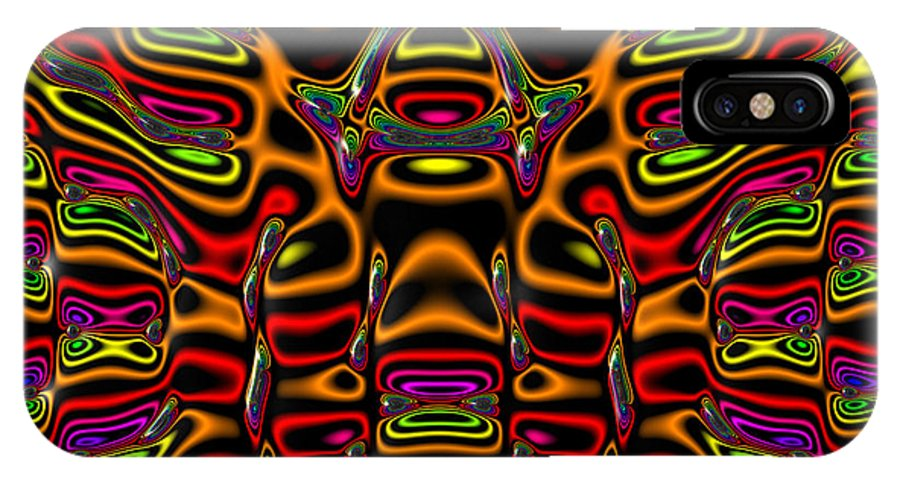 Abstract IPhone X Case featuring the digital art Leachelorn by Andrew Kotlinski