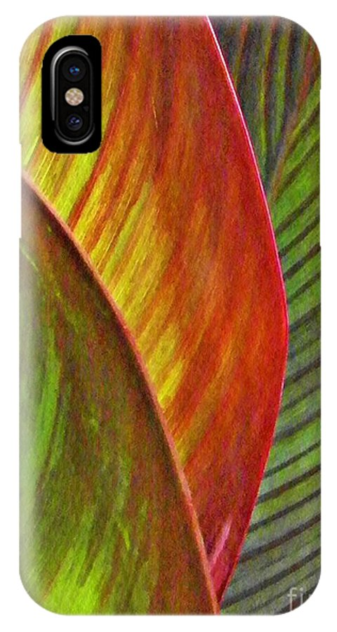 Leaf IPhone X Case featuring the photograph Leaf Abstract 3 by Sarah Loft