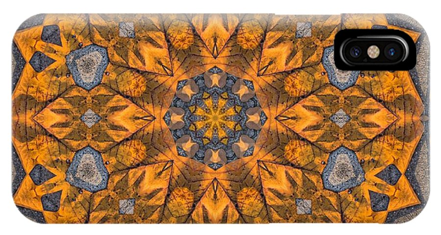 Kaleidoscope IPhone X Case featuring the photograph Leaf Glow by Lyle Hatch