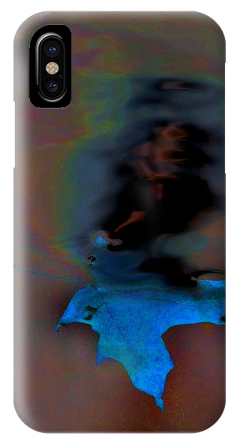 Golden IPhone Case featuring the photograph Leaf In Water by Steve Somerville