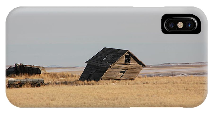 IPhone X / XS Case featuring the photograph Leaning Memories by Mitchell Blasdell