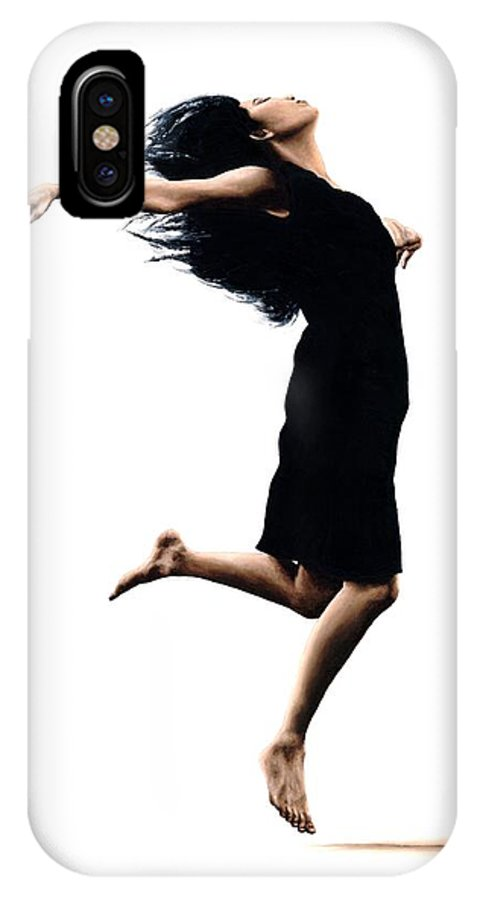 Ballet IPhone X Case featuring the painting Leap into the Unknown by Richard Young