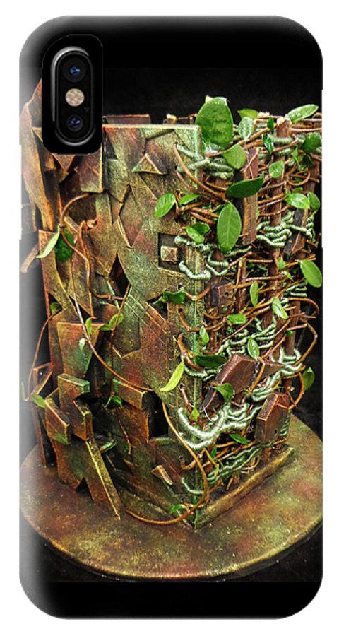 Plants IPhone X / XS Case featuring the sculpture Leaves by Chase Berry