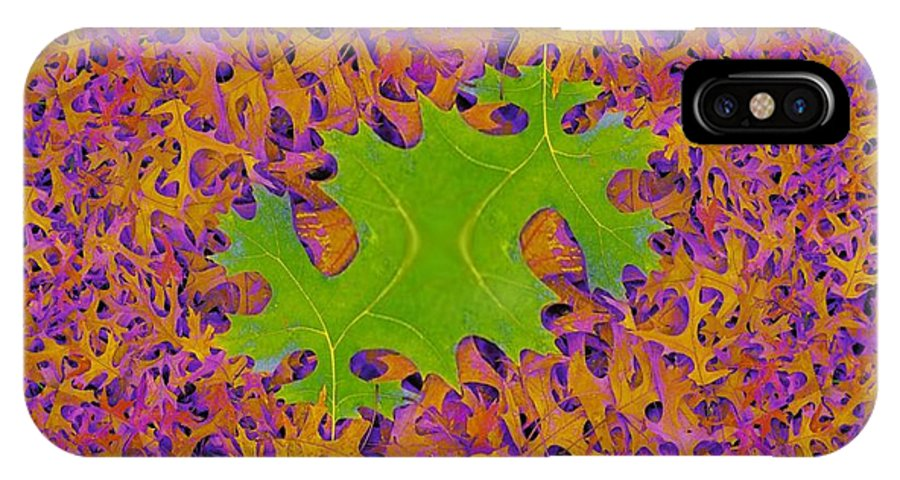 Leaves IPhone X Case featuring the photograph Leaves In Fractal 2 by Tim Allen