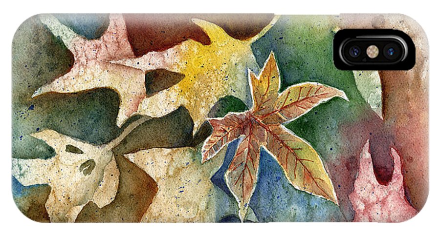 Leaf IPhone Case featuring the painting Leaves Of Autumn by Arline Wagner