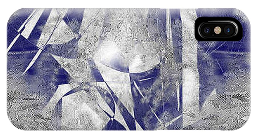 Digital IPhone X Case featuring the digital art Lebensreise by Ilona Burchard