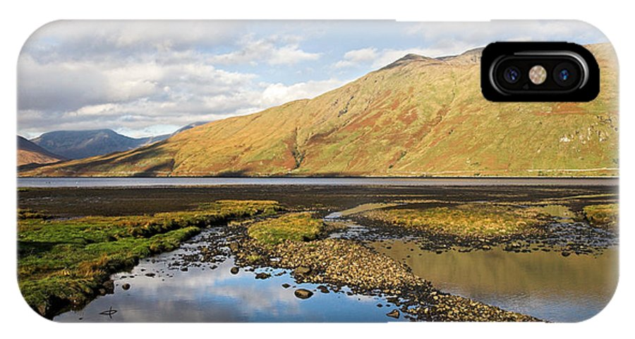 Leenane IPhone X Case featuring the photograph Leenane Reflection Irish Landscape by Pierre Leclerc Photography