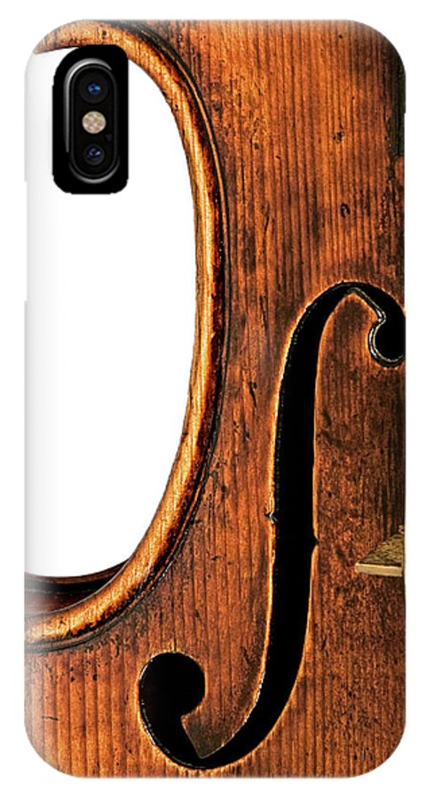 Strad IPhone X Case featuring the photograph Left F by Endre Balogh