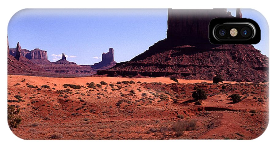 Arizona IPhone X Case featuring the photograph Left Mitten Monument Valley Navajo Tribal Park by Thomas R Fletcher