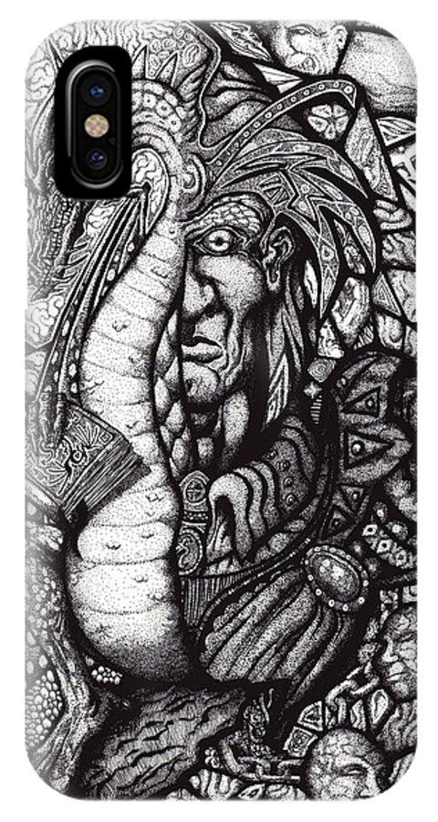 Pen And Ink IPhone Case featuring the drawing Legend by Tobey Anderson