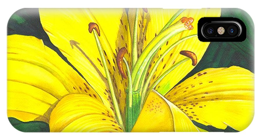 Lily IPhone Case featuring the painting Lemon Lily by Catherine G McElroy
