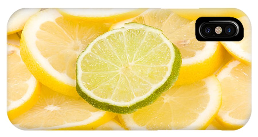 Abstract IPhone X Case featuring the photograph Lemons And One Lime Abstract by James BO Insogna