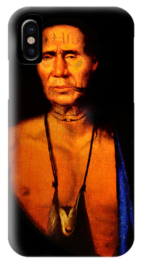 Lenne IPhone X / XS Case featuring the photograph Lenape Chief by Bill Cannon