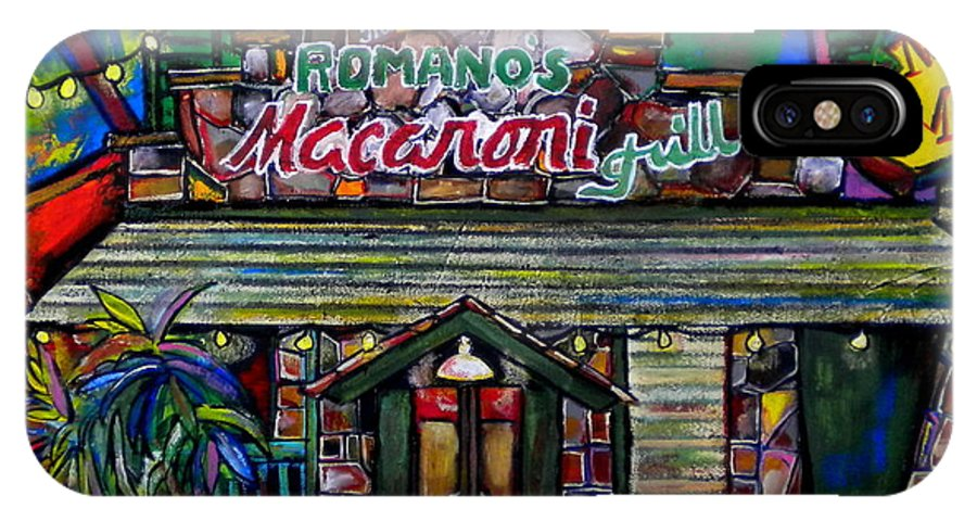 Romano's Macaroni Grill IPhone X Case featuring the painting Leon Springs by Patti Schermerhorn